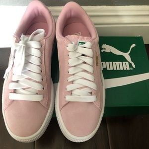 Pink lady suede jr puma